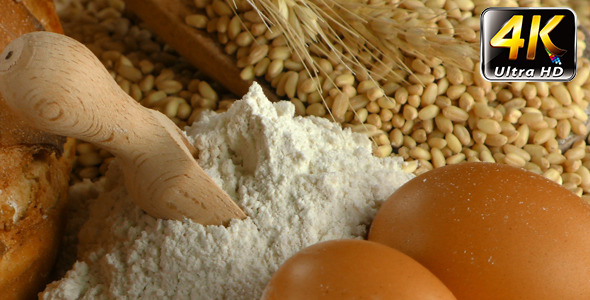 Bread Wheat Egg and Flour Concept 24