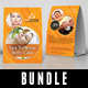 3 in 1 Spa And Beauty Table Tent Bundle V02 - GraphicRiver Item for Sale