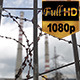 Razor Wire in Front of The Factory - VideoHive Item for Sale
