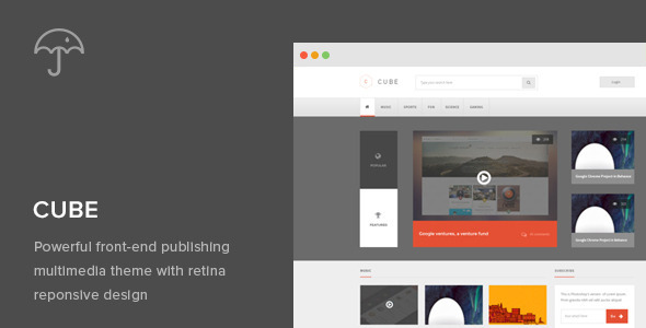 Cube: Front-end Multimedia Publishing WP Theme