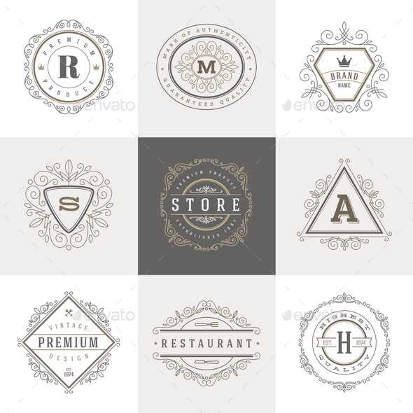 Monogram Mogo Template - Decorative Vectors