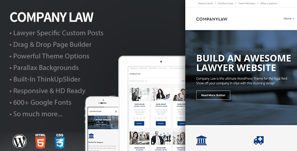 CompanyLaw – Lawyer & Attorney WordPress Theme