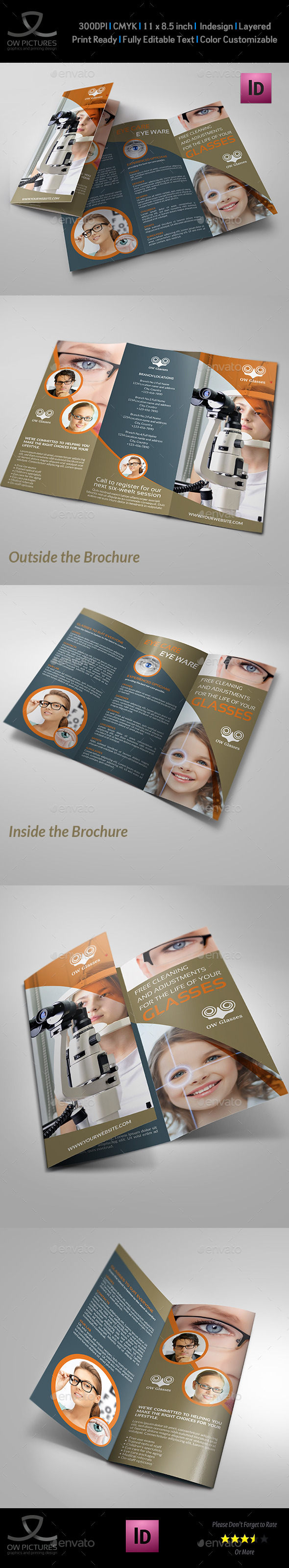 Optometrist & Optician Tri-Fold Brochure Vol.2 - Brochures Print Templates