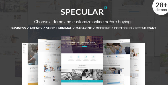 Specular – Responsive Multi-Purpose Business Theme