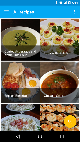 Cookbook recipe app for android by robotemplates codecanyon device 2015 03 11 174053g forumfinder