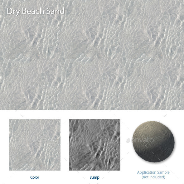 Dry Beach Sand - 3DOcean Item for Sale