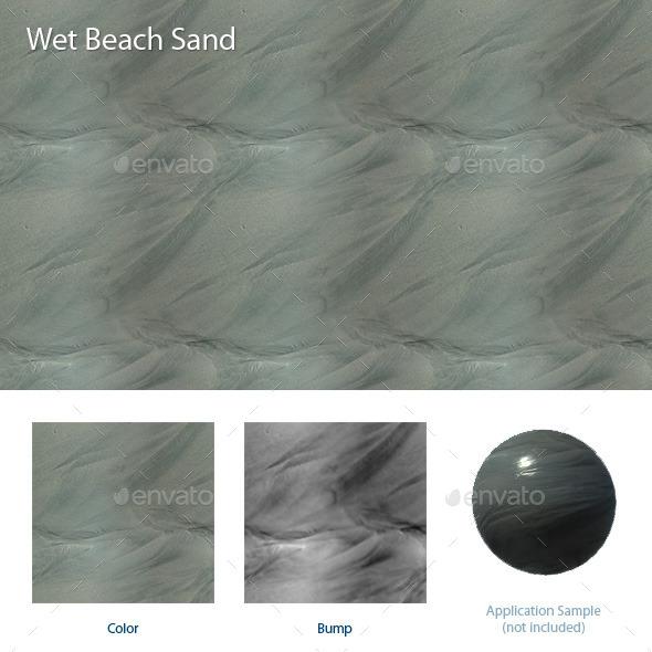 Wet Beach Sand - 3DOcean Item for Sale