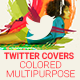 Twitter Profile Cover - Colored Multipurpose - GraphicRiver Item for Sale