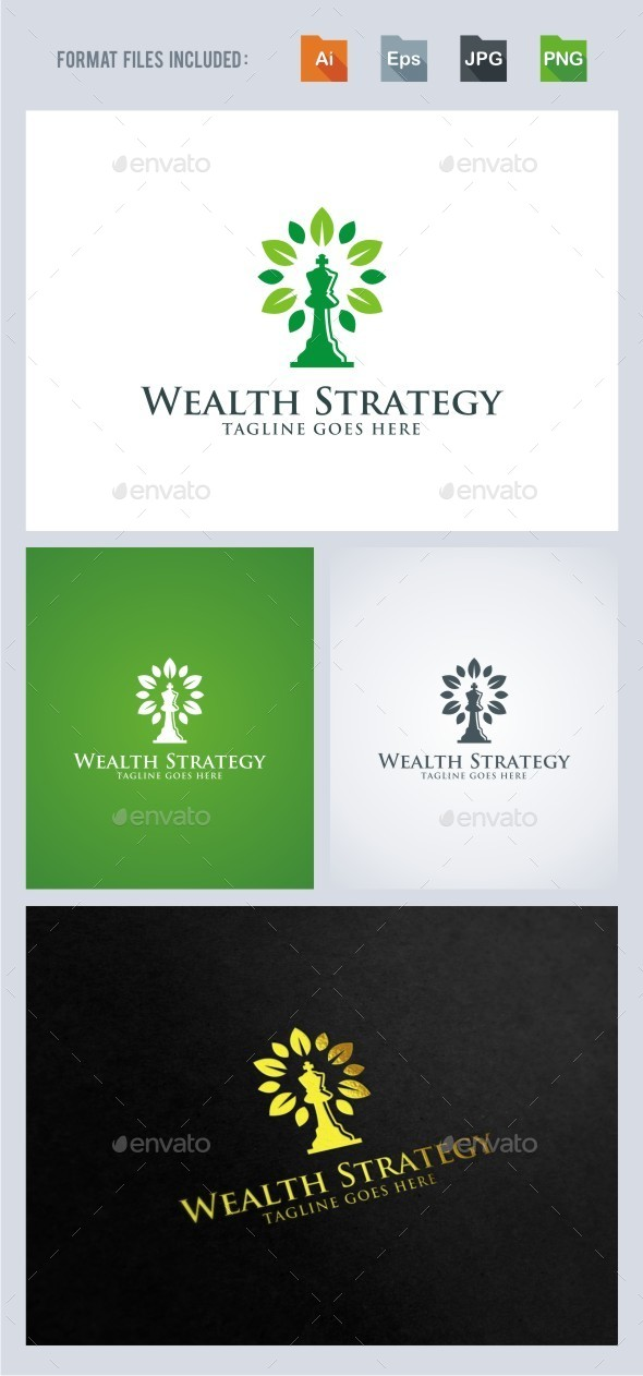 Wealth Strategy - Chess Logo Template - Symbols Logo Templates