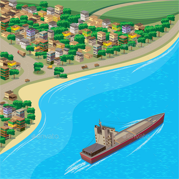 Coastline - Buildings Objects