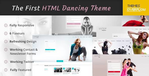 One Step – Creative Ballet HTML Template