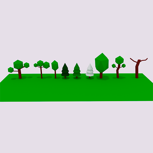 Lowpoly Tree pack - 3DOcean Item for Sale