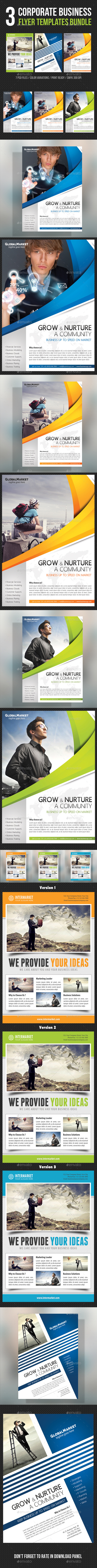 3 in 1 Corporate Business Flyer Bundle - Corporate Flyers