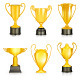 Gold Trophies Icons - GraphicRiver Item for Sale