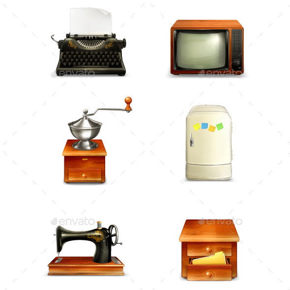 Antique Furniture and Home Appliances - Man-made Objects Objects