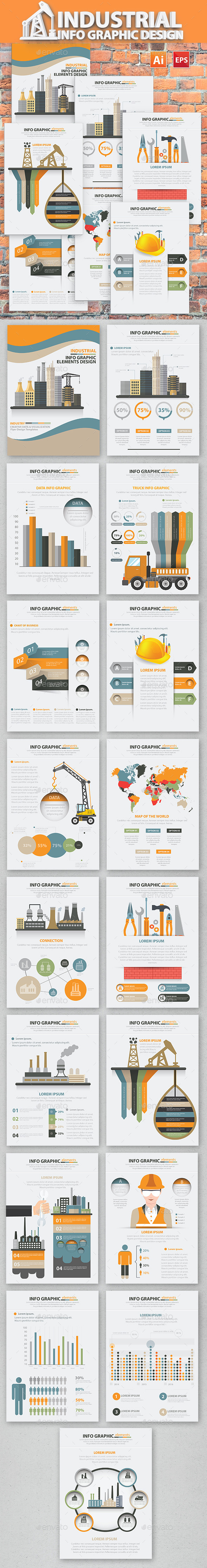 Industry Infographic 17 Pages Design - Infographics