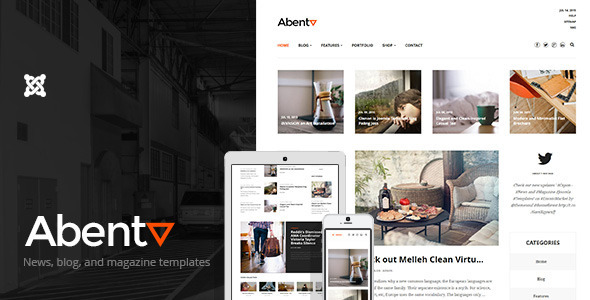 Abenta – Clean Blogging and Magazine Templates