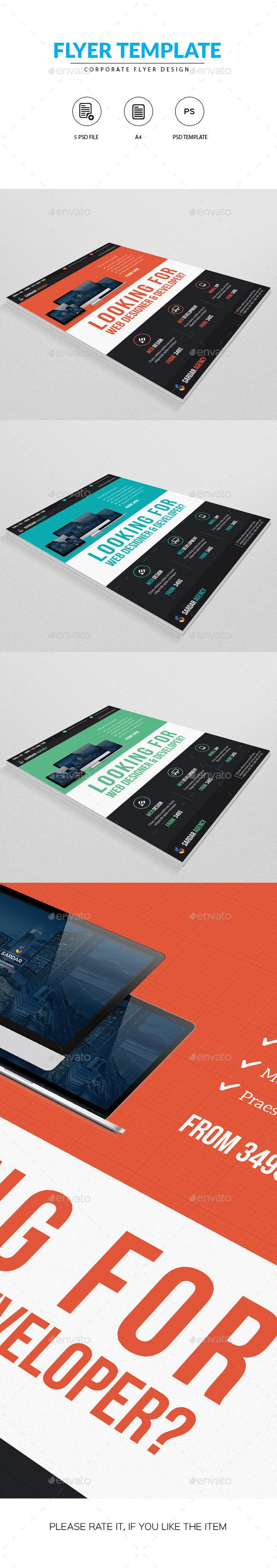 Flyer for Web Designer - Corporate Flyers