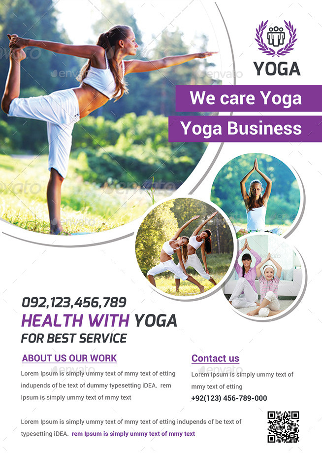 Yoga Flyer Print Templates By Afjamaal Graphicriver