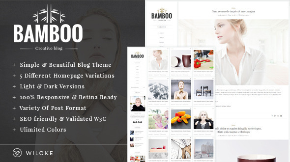 Bamboo – A Simple, Elegant WordPress Blog Theme