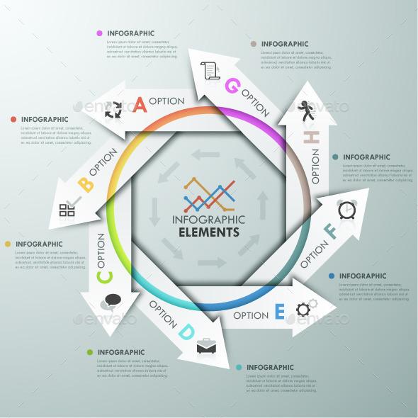 Modern Infographics Cycle Template - Infographics