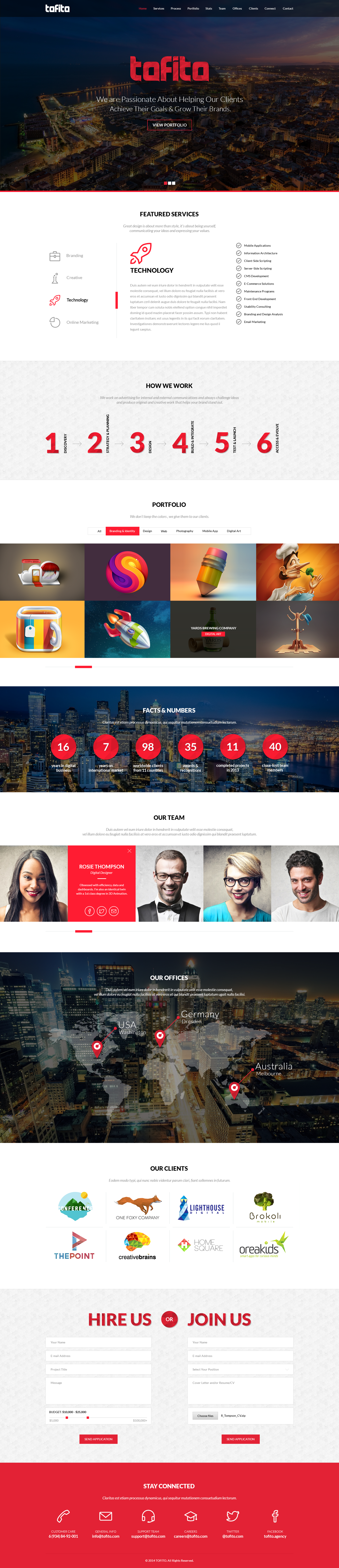 Tofito responsive one page html5 template by bareve themeforest tofito preview images set02tofito one page psdg pronofoot35fo Gallery