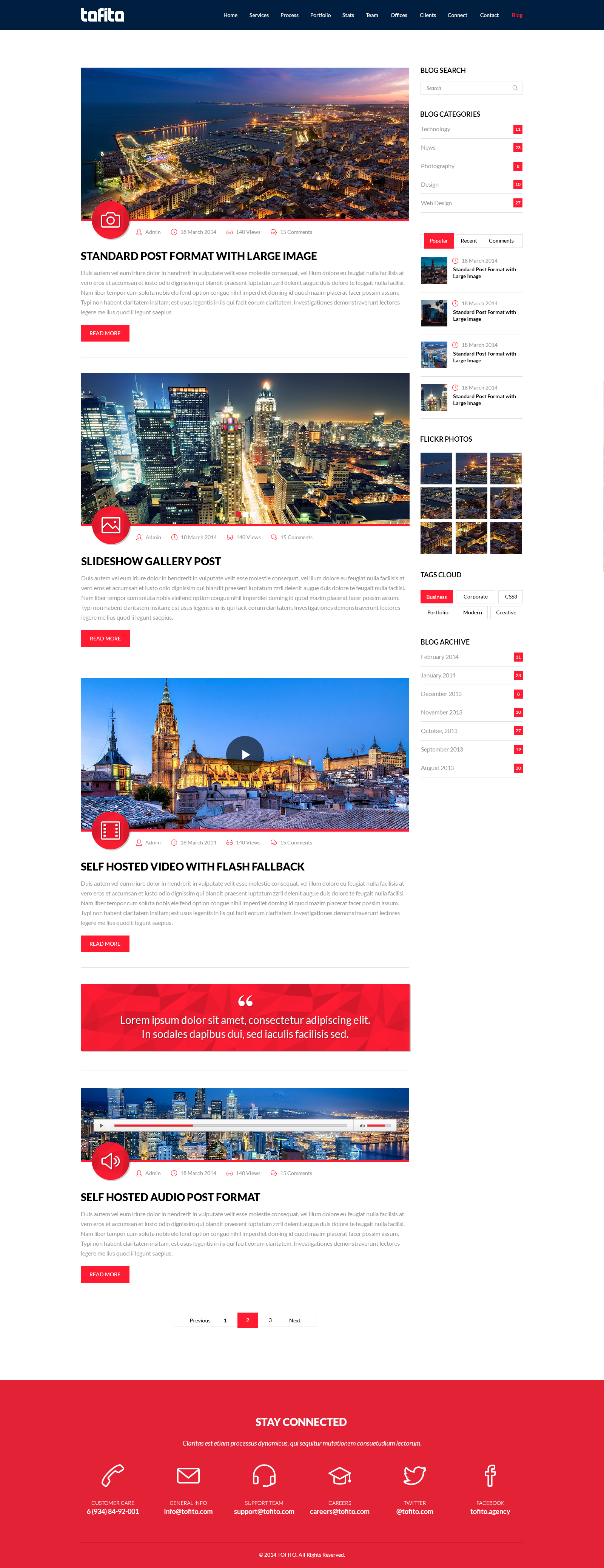 Tofito Responsive One Page Html5 Template By Bareve Themeforest