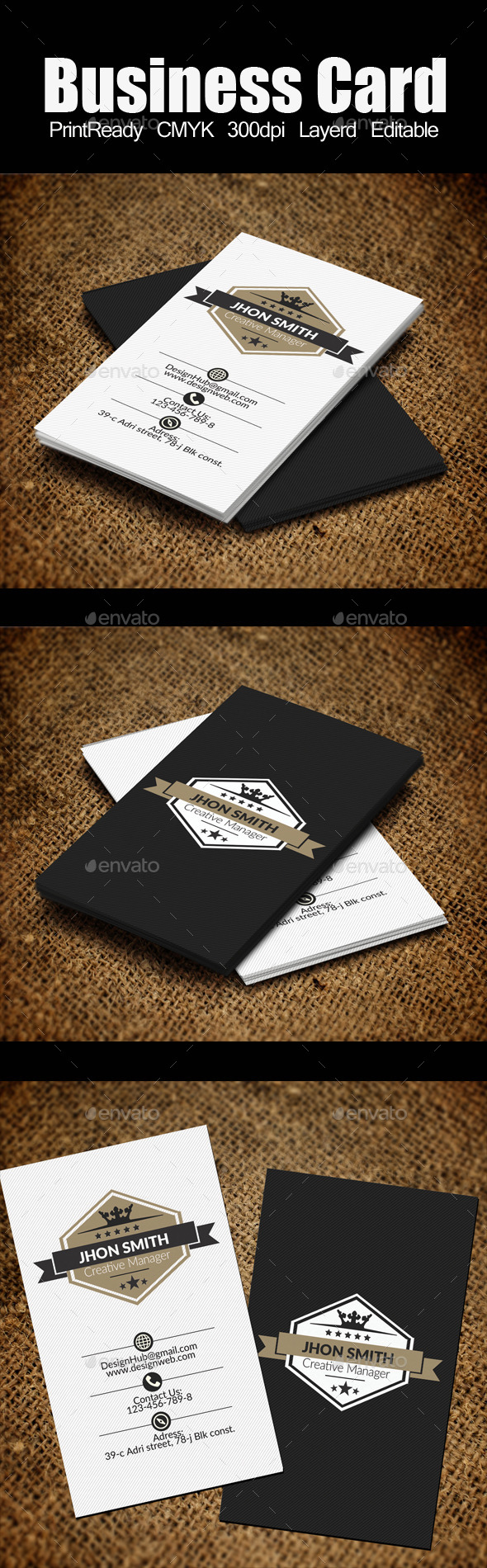 vertical Retro Vintage Business Card Template - Retro/Vintage Business Cards