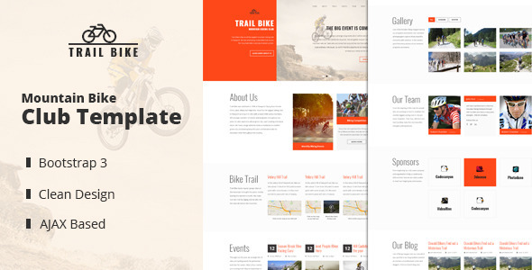 Trail Bike – Mountain Biking Club Template