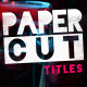 Paper Cut Titles - VideoHive Item for Sale
