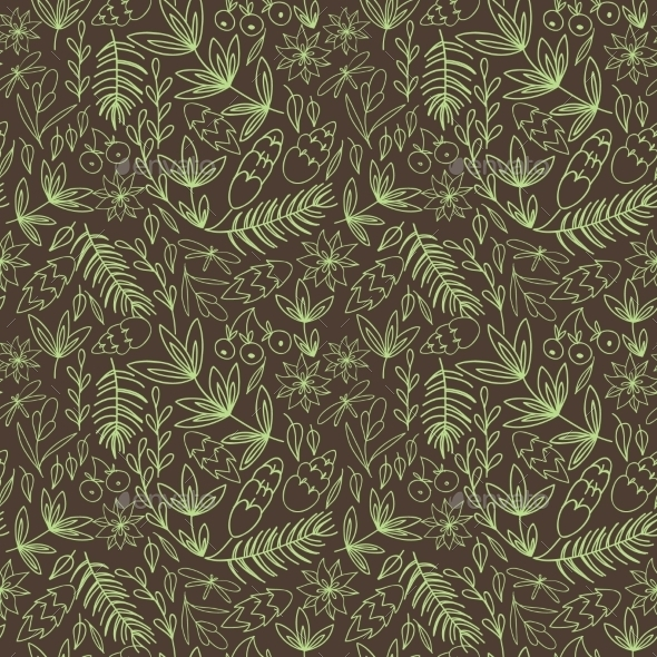 Vintage Floral Pattern - Backgrounds Decorative
