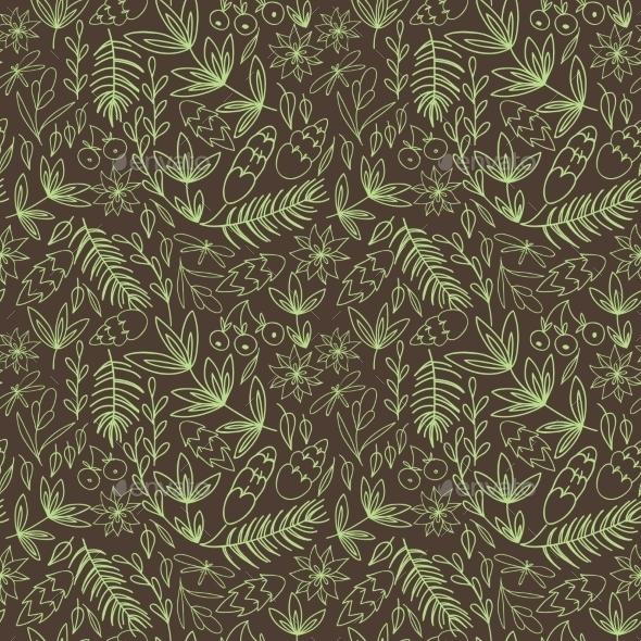 Vintage Floral Pattern - Backgrounds Decorative