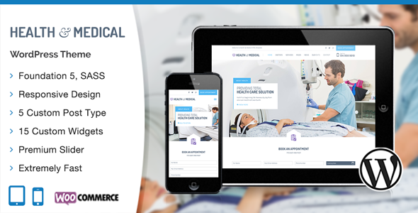 Health & Medical Responsive WordPress Template