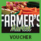 Farmer's Market Commerce Discount Voucher - GraphicRiver Item for Sale