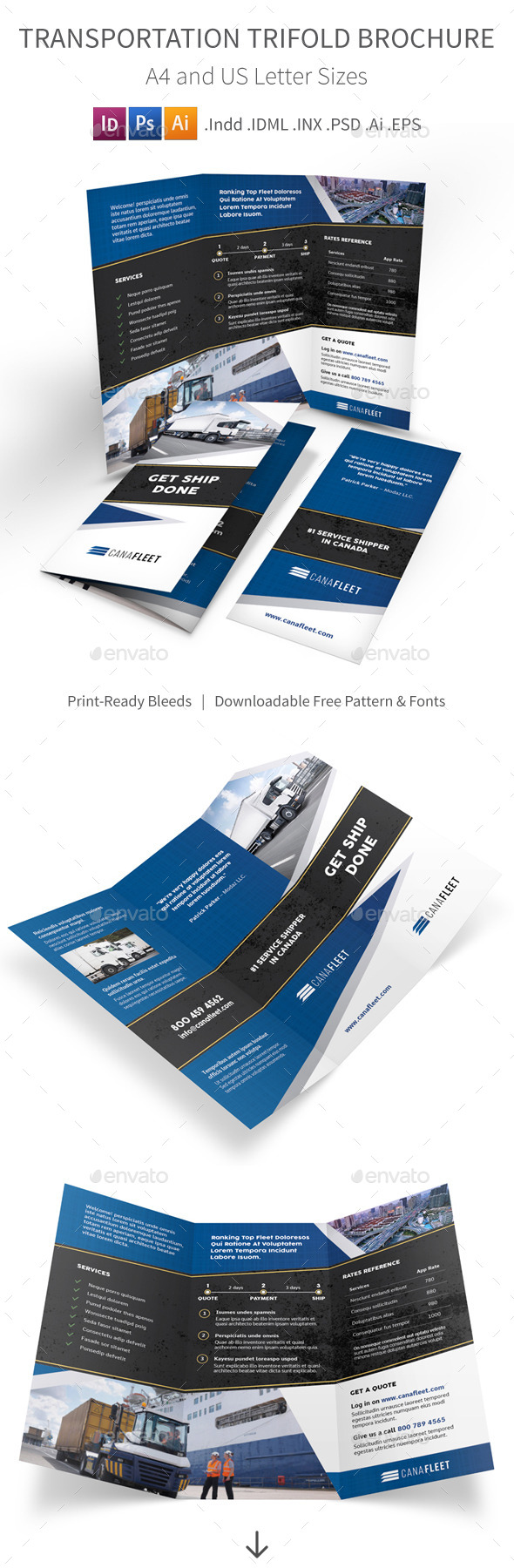 Transportation Company Trifold Brochure - Corporate Brochures