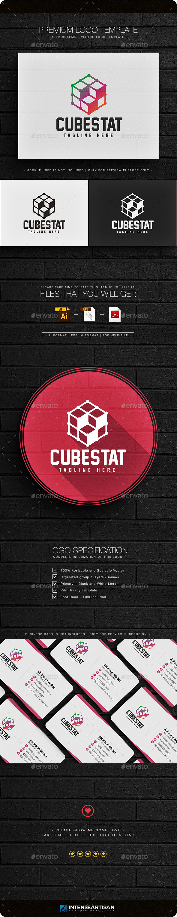 Cubestat Logo - Objects Logo Templates