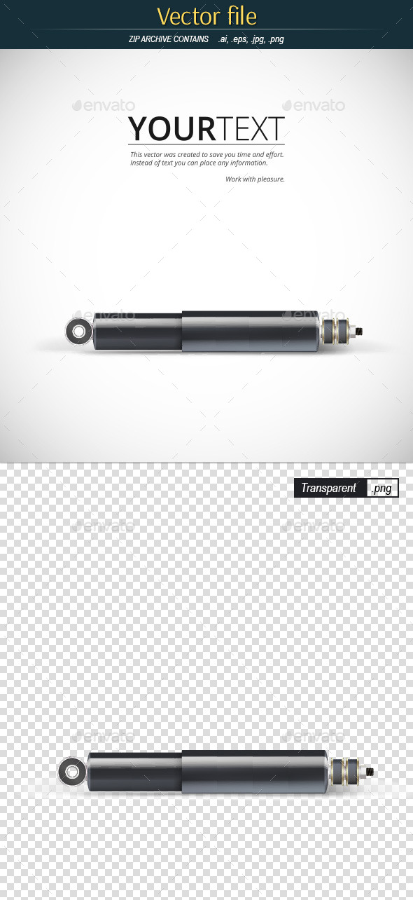 Shock Absorber with Place for Text - Backgrounds Decorative