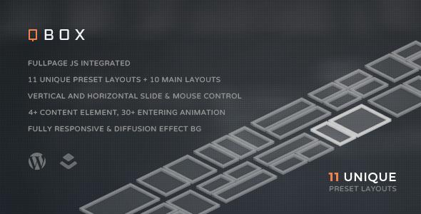 QBOX – FullPage Fullscreen Responsive Theme