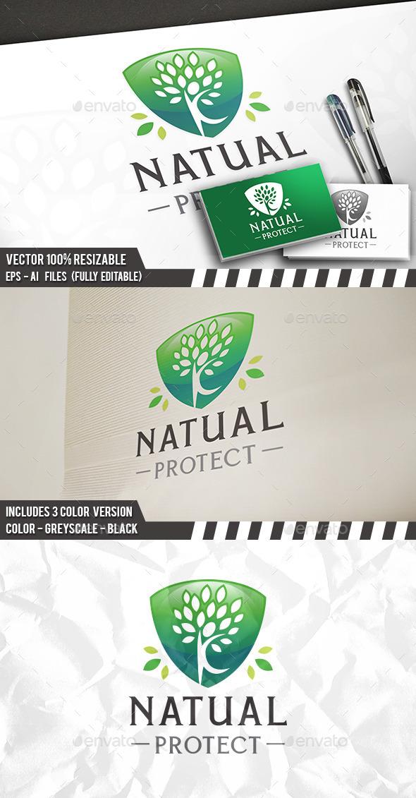 Natural Protect Logo - Nature Logo Templates