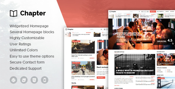Chapter – WordPress Magazine Theme