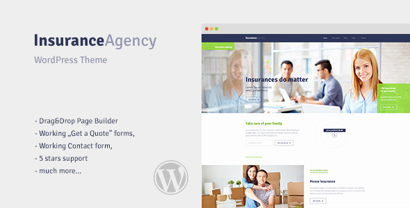 Insurance – WordPress Theme for Insurance Agency