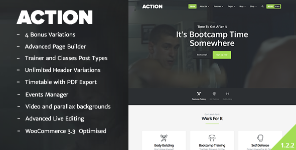 Action – The Fitness Theme