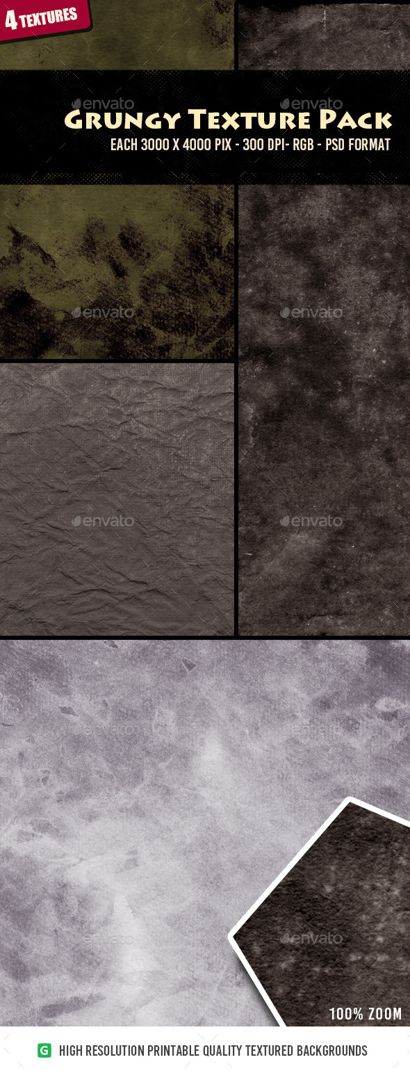 Grungy Texture Pack 01 - Industrial / Grunge Textures