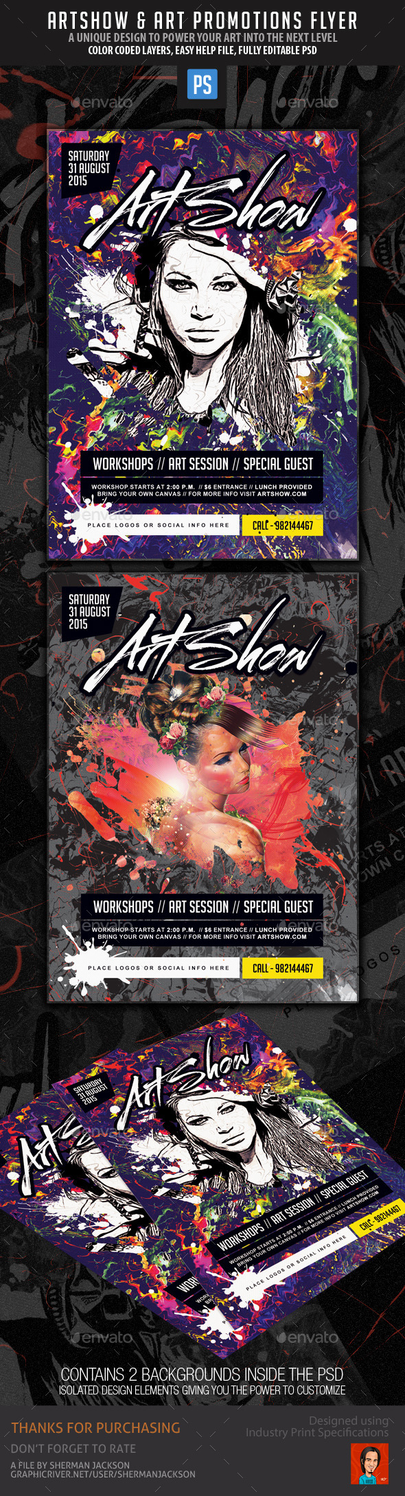 Art Show Promotional Flyer - Events Flyers