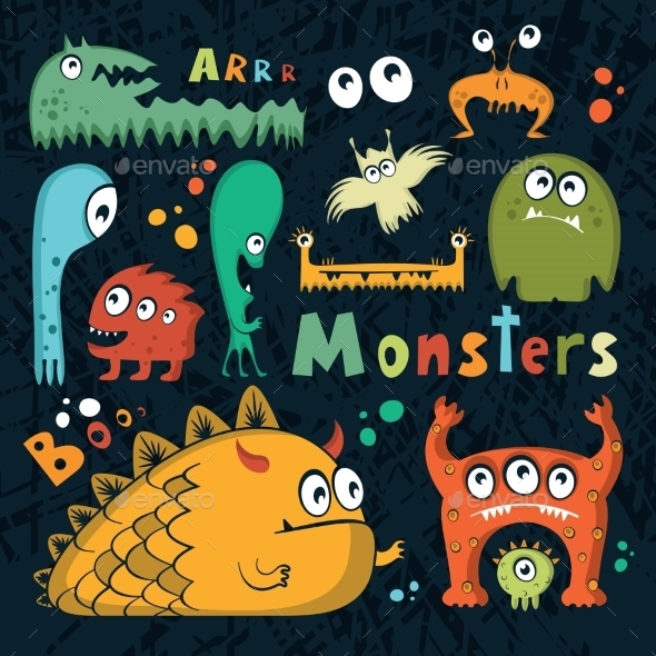 Fun Monsters Set - Monsters Characters