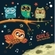 Collection Of Owls In The Night - GraphicRiver Item for Sale