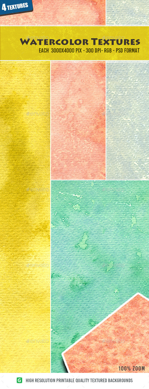 Watercolor Texture Pack 09 - Textures