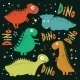 Set Of Funny Cartoon Dinosaurs. - GraphicRiver Item for Sale