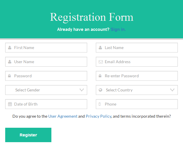 Flat Multipurpose Forms With Twitter Bootstrap3 by DREAMWEBLAB ...