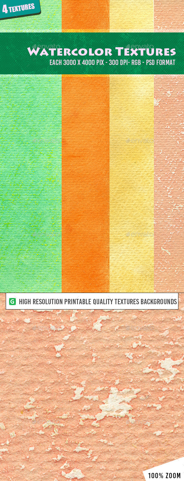 Watercolor Texture Pack 13 - Textures